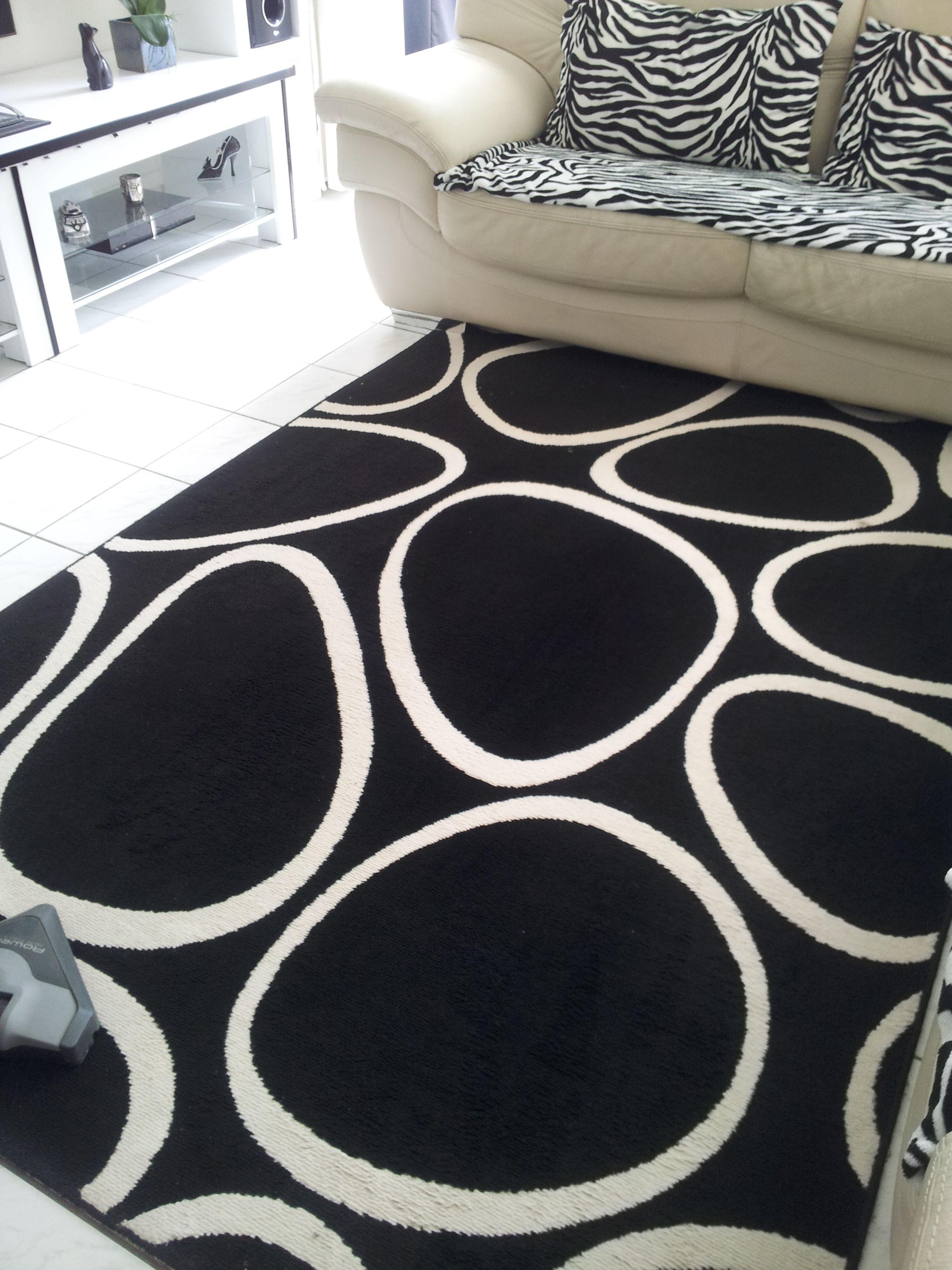 tapis noir et blanc desing dcoration - Tapis Noir Et Blanc