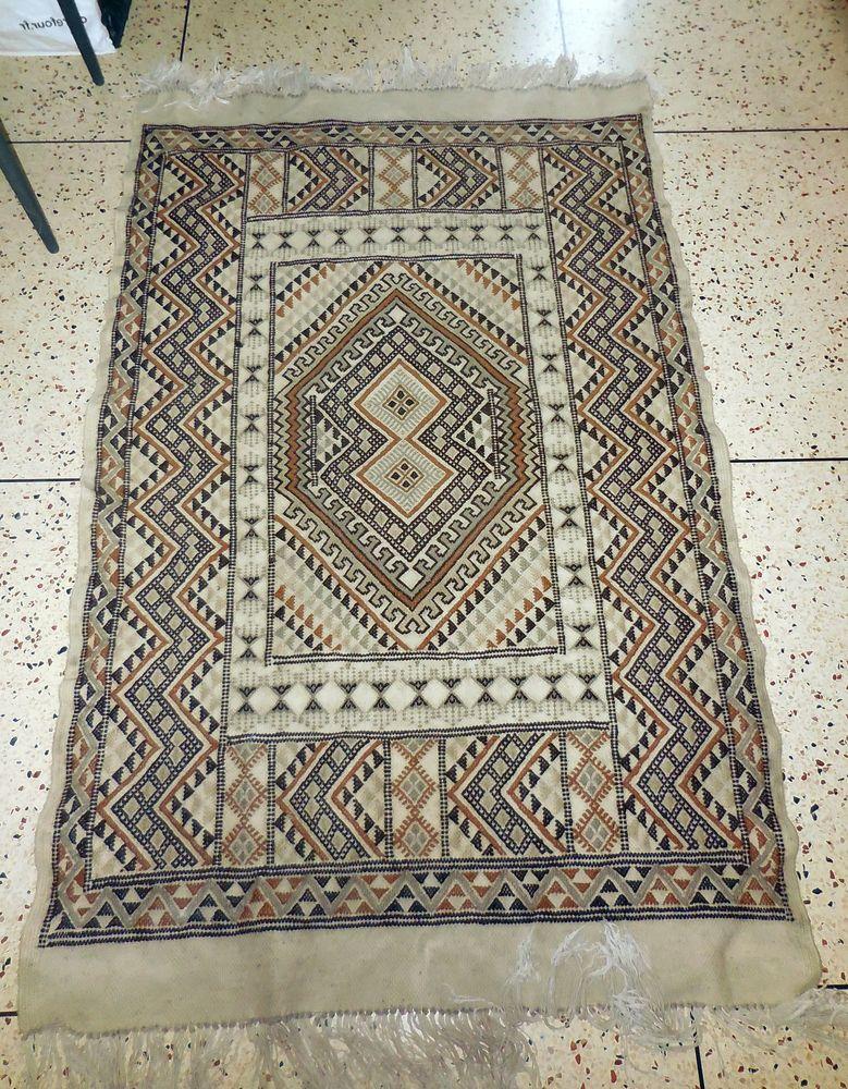 Tapis traditionnel tunisien,margoum, en laine, fait main 150 Marseille 15 (13)