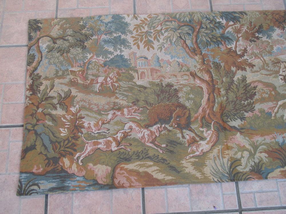 TAPISSERIE ANCIENNE TISSÉE JACQUARD GOBLYS:150 X 70CM 90 Avensan (33)