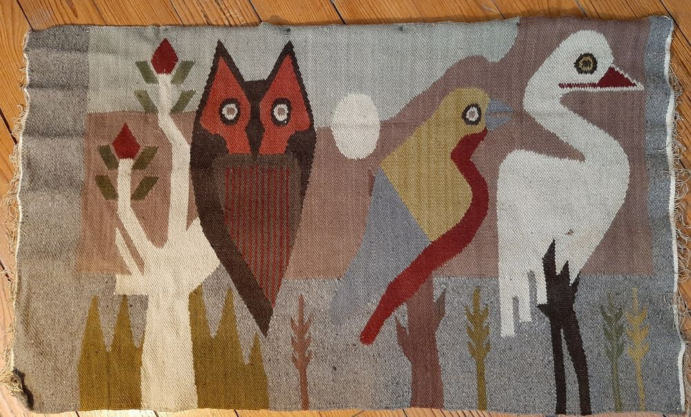 Tapisserie murale tissée en fil de laine de Quito, Equateur, 10 Biarritz (64)