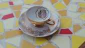 Tasse  porcelaine de Sologne LAMOTTE 3 année 60 15 Charantonnay (38)