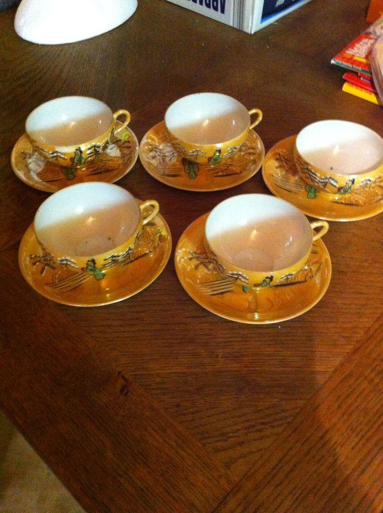 Tasses à café en porcelaine fine (9804) (kh11) 8 Saint-Vallier (71)