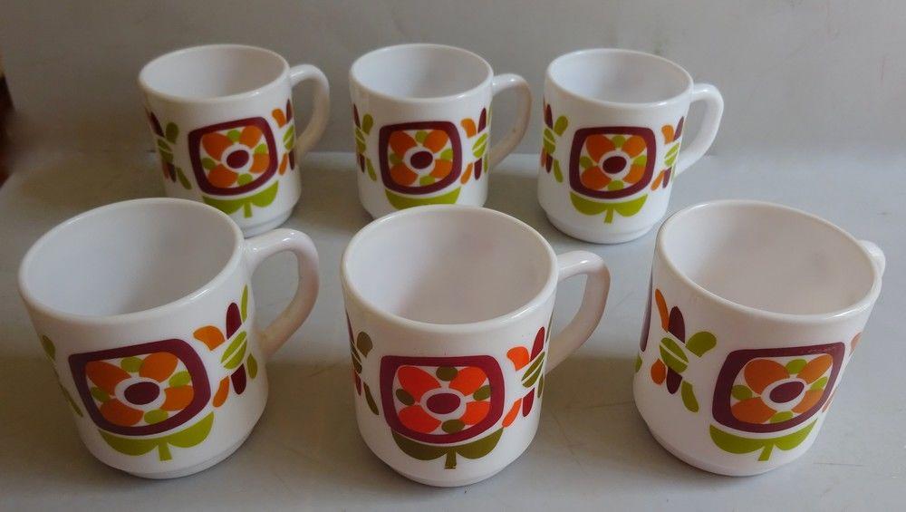 Tasses à café  publicitaire VINTAGE  MOBIL   par JC Meunier  15 Mondragon (84)