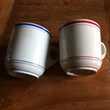 """2 tasses épaisses dites """"brulots """" Décoration"""