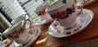 Tasses porcelaine anglaise Décoration