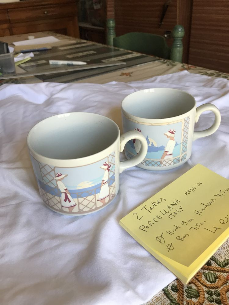 2 tasses en porcelaine 4 Romorantin-Lanthenay (41)