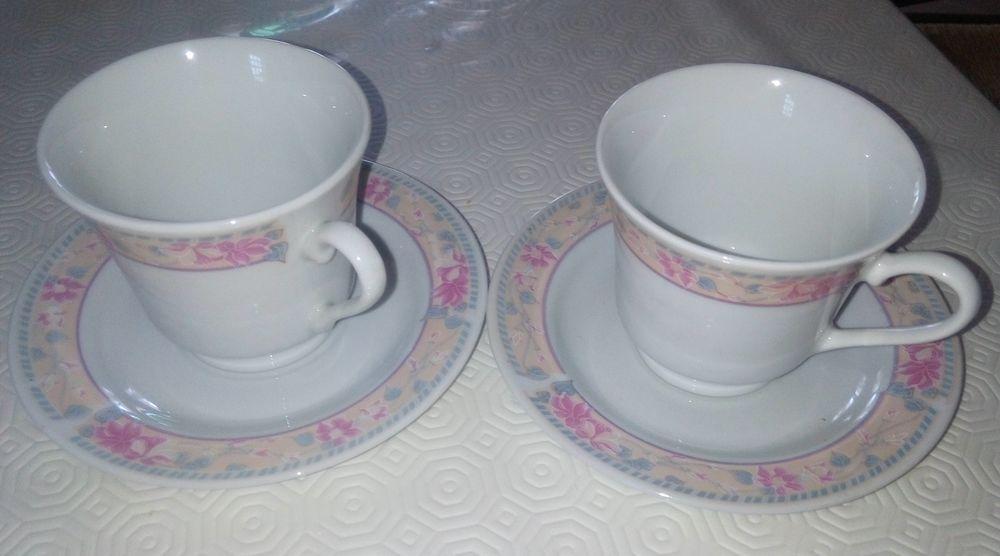 2 tasses + soucoupes 5 Vert-le-Grand (91)