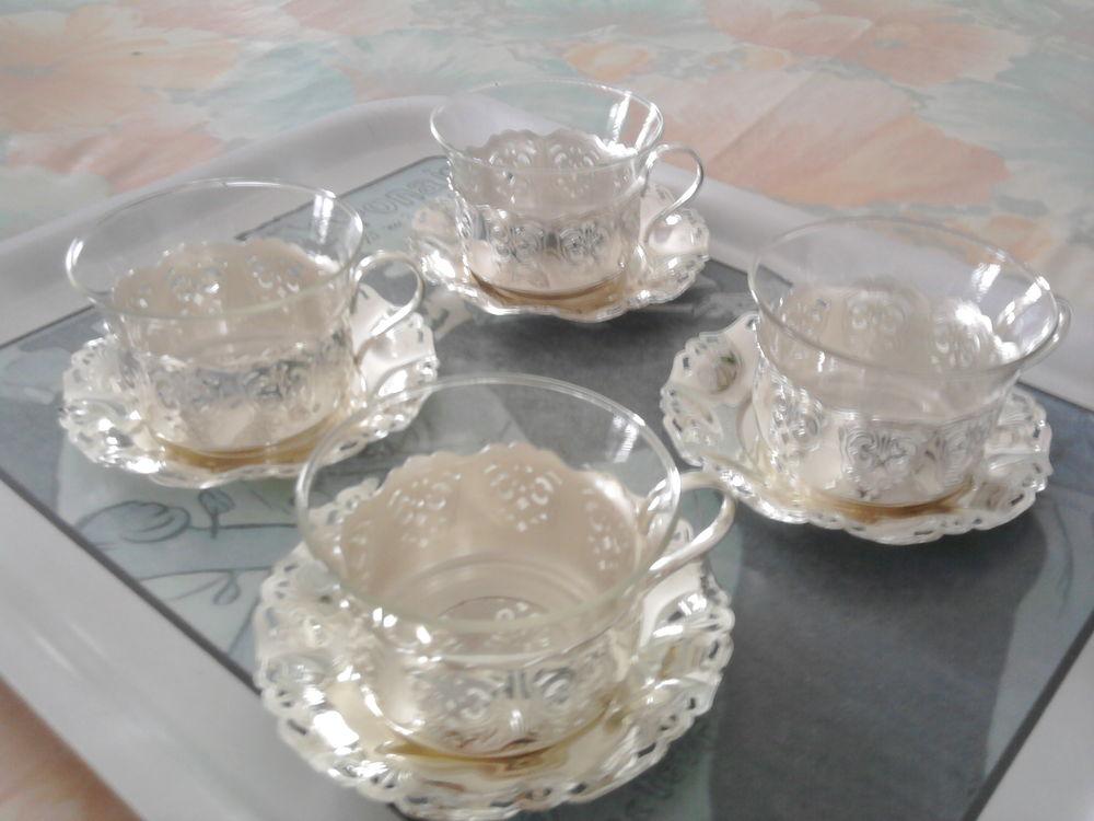 Tasses en verre incassable, amovible et métal argenté  30 Caen (14)
