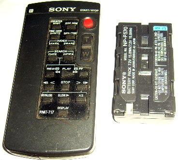 télécommande Sony Caméscope +batterie 13 Versailles (78)