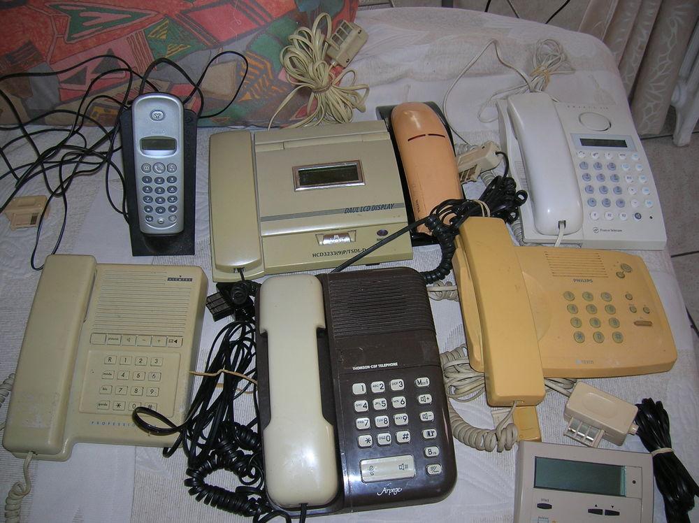6 téléphones fixes anciens+1 boitier marques différentes  49 Reims (51)