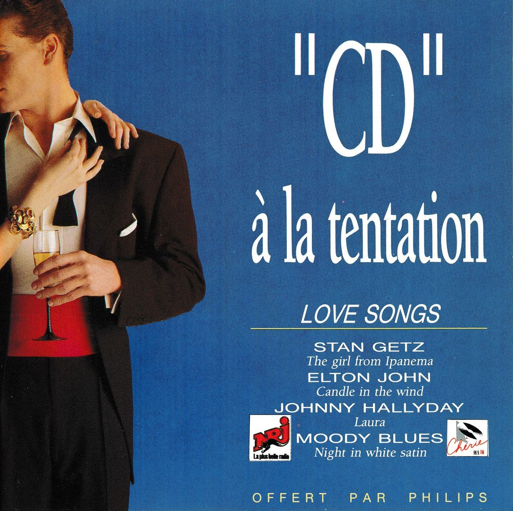 CD   À La Tentation Love Songs Objet Publicitaire Philips