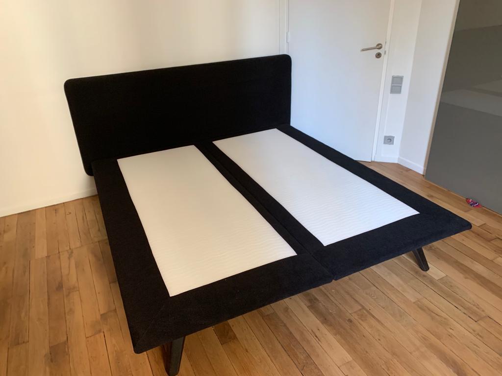 Tête de lit King Size et sommier en Velours 180cm 399 Neuilly-sur-Seine (92)