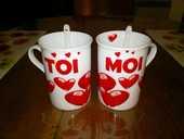 Tête à tête 2 tasses mugs + cuillères négociable 10 Boismé (79)