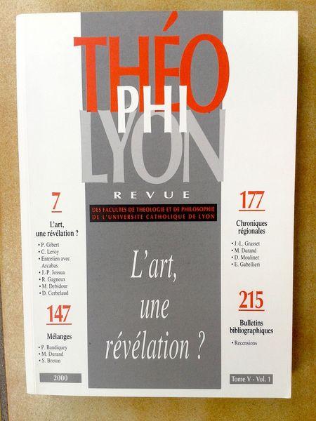 Theophilyon, revue de l'Université catholique de Lyon Livres et BD