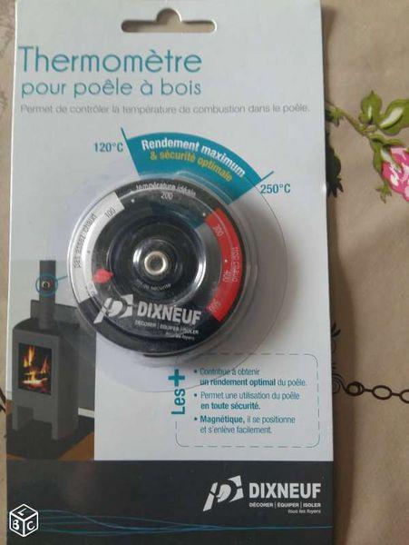 Thermomètre magnétique neuf pour poêle à bois 5 Châteaugiron (35)