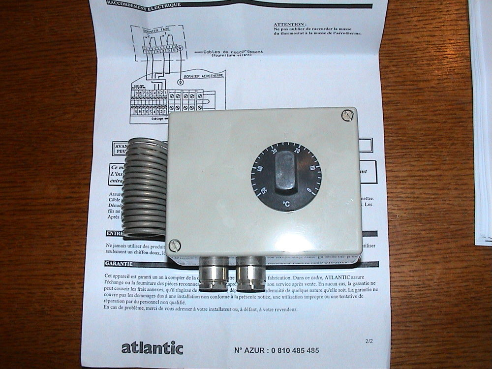 thermostat TA 2G d'ambiance aérothermes - chauffe Bricolage