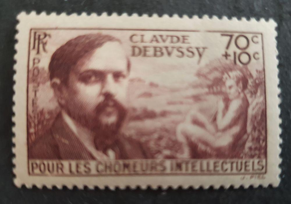 Timbre 437 avec charnière  60 centimes 1 Joué-lès-Tours (37)