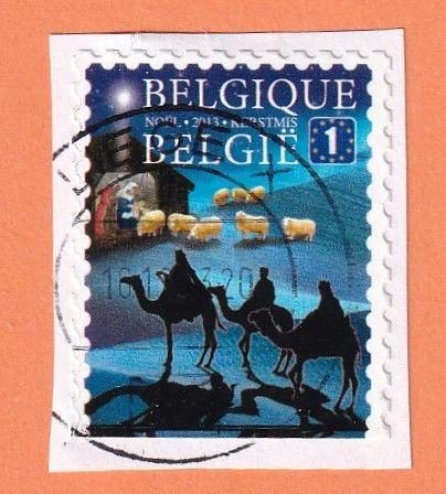 Timbre Belgique Rois mages 0 Lille (59)