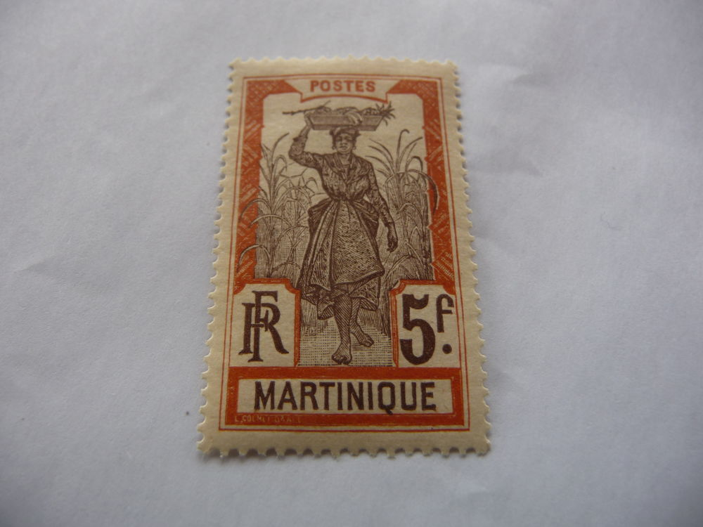 TIMBRE COLONIES FR  MARTINIQUE  n  77  NEUF* 1 Fabrègues (34)
