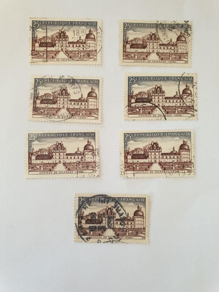 Timbre France 1957 Chateau de Valençay - lot 0.35 euro 0 Marseille 9 (13)