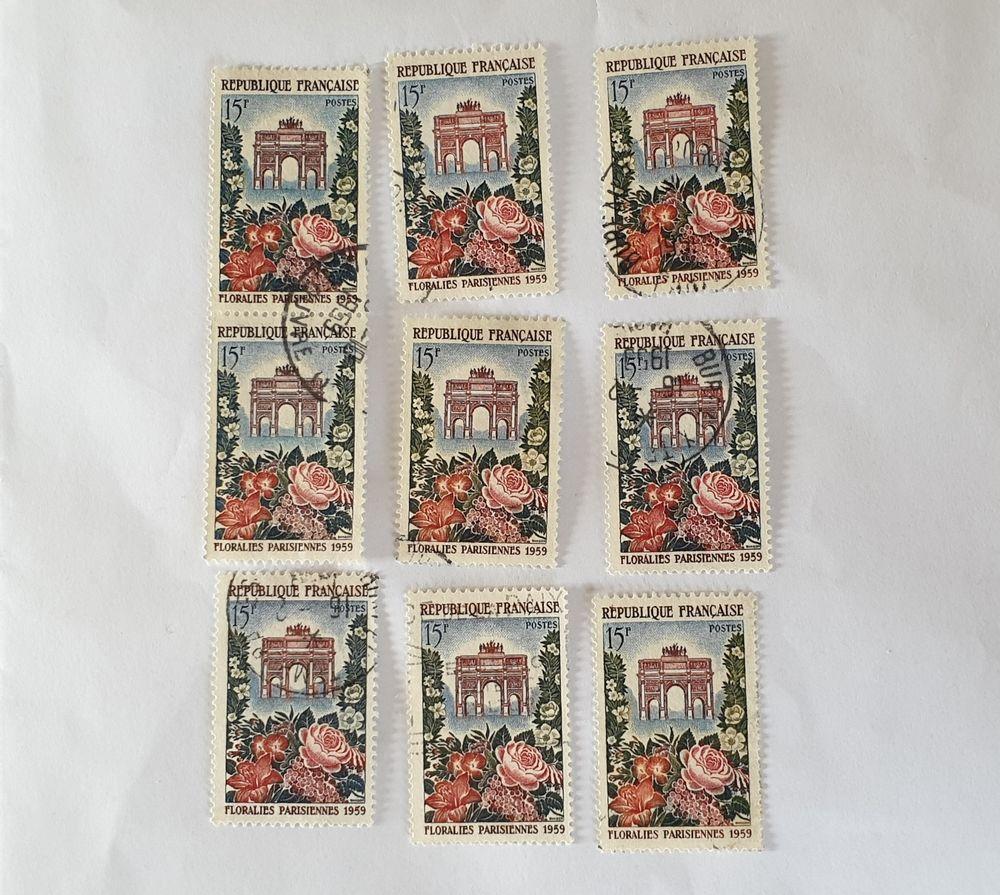 timbre france 1959 ,Floralies Parisiennes- lot 0.99 euro
