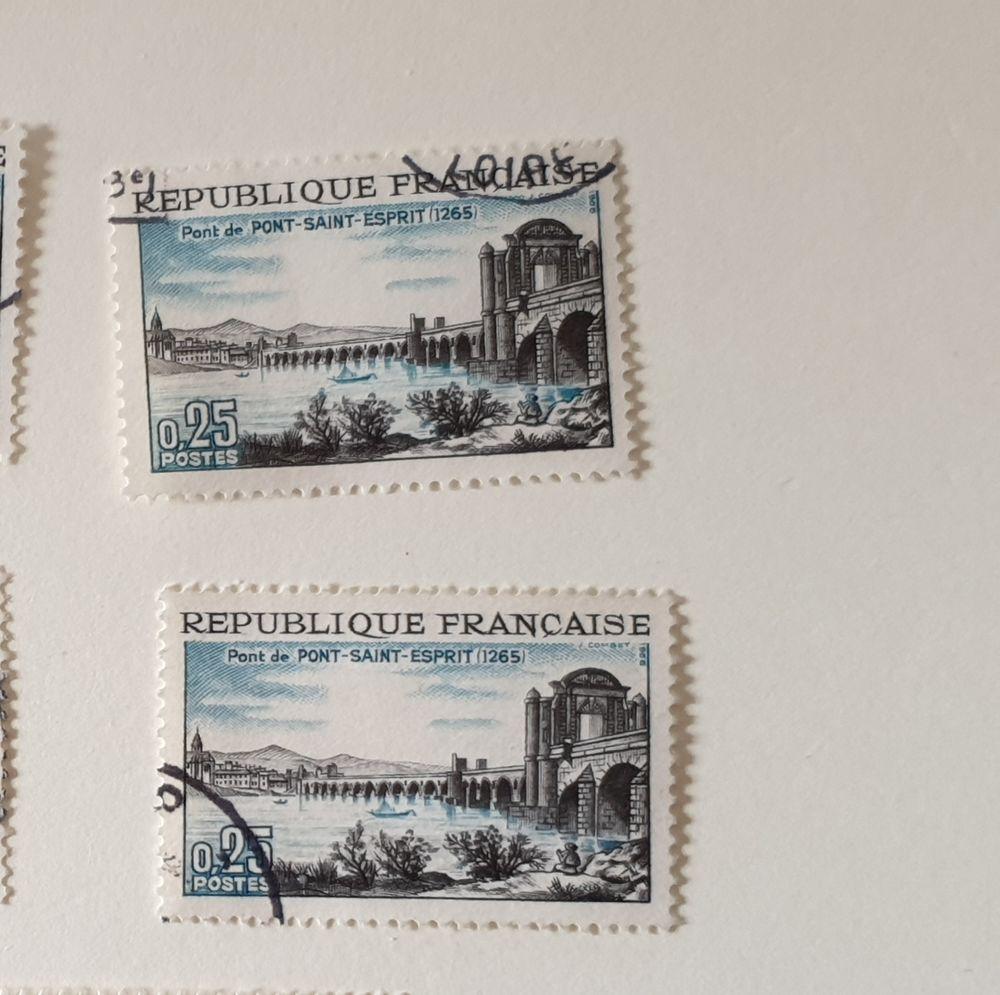 Timbre France 1966 7 Pont-Saint-Esprit lot 0.24 euro