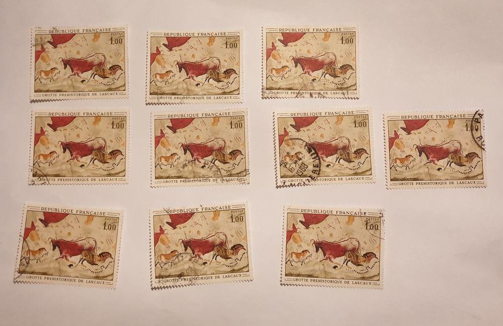timbre France 1968 Peinture rupestre  grotte de Lascaux 0 Marseille 9 (13)