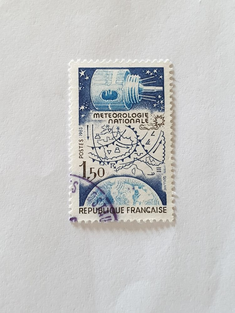 Timbre France 1983 Météorologie nationale- 0.05 euro