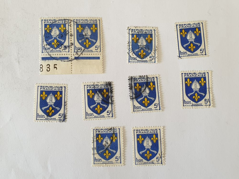 Timbre france Armoiries Saintonge 1954- lot 0.50 euro ou 0.0 0 Marseille 9 (13)