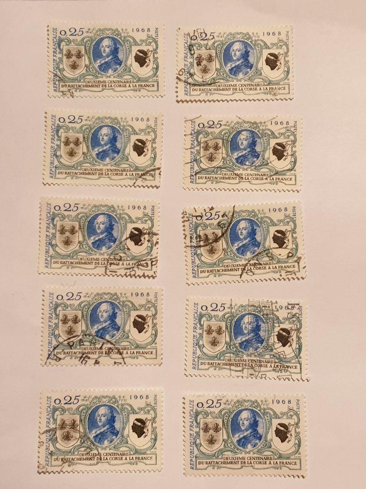 Timbre France Bicentenaire rattachement Corse 1968-0.50 euro 0 Marseille 9 (13)