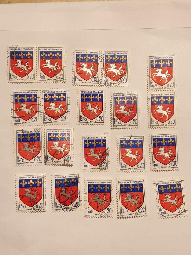 Timbre France Blason de Saint-Lô (1966) lot 0.60 euro