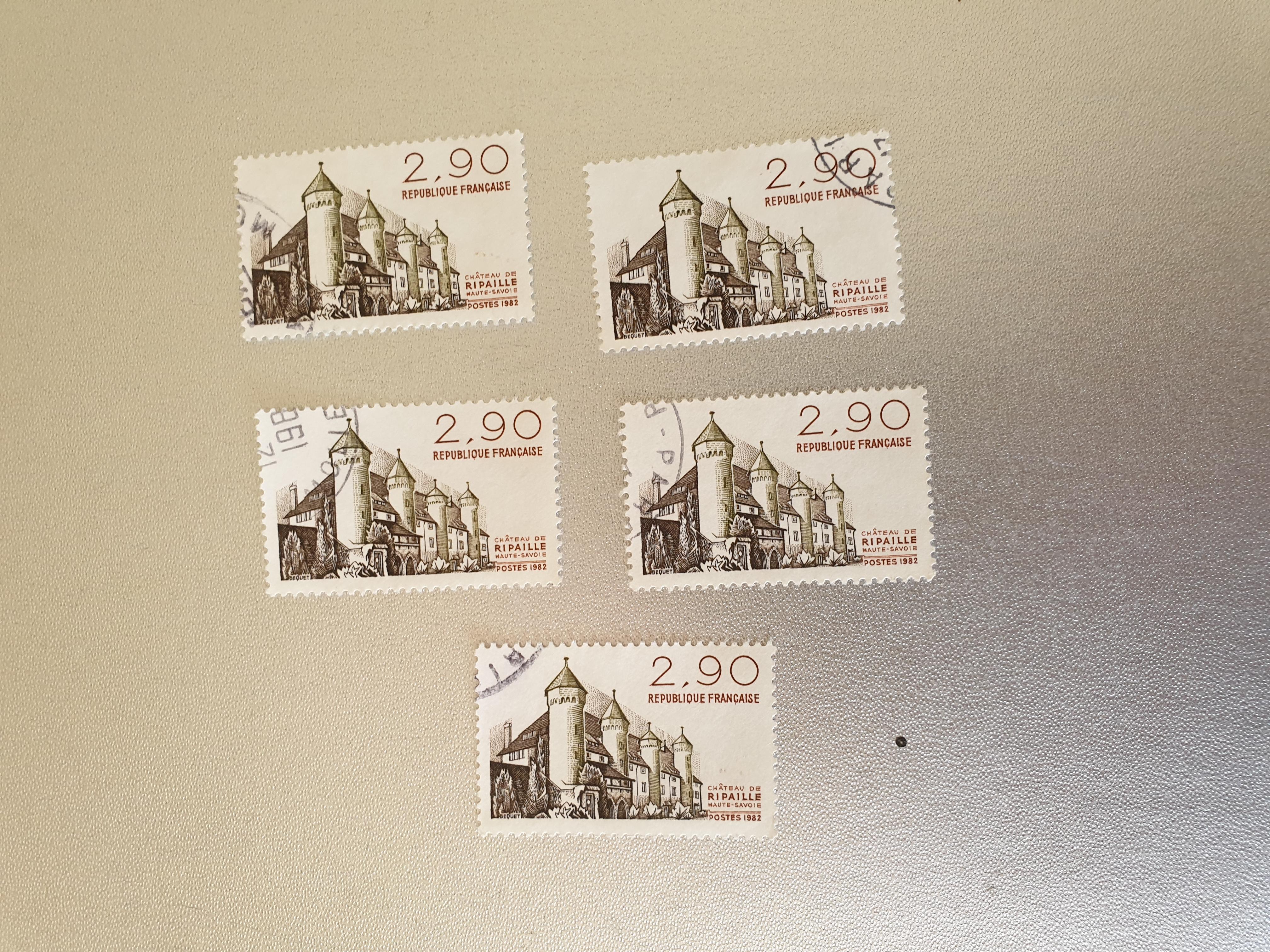 Timbre france Château de Ripaille 1982- lot 1.25 euro  0 Marseille 9 (13)