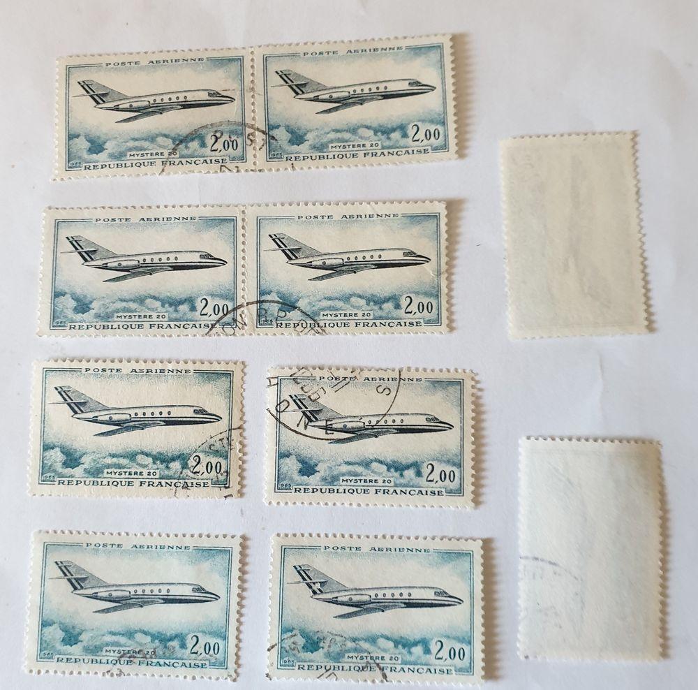 timbre France  Dassault 'mystère 20 (1965) oblitérés  -0.60 0 Marseille 9 (13)