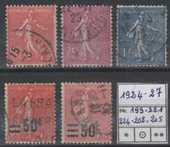 TIMBRE de FRANCE entre 1924 &1927 OBLITERE 1 Caumont (09)