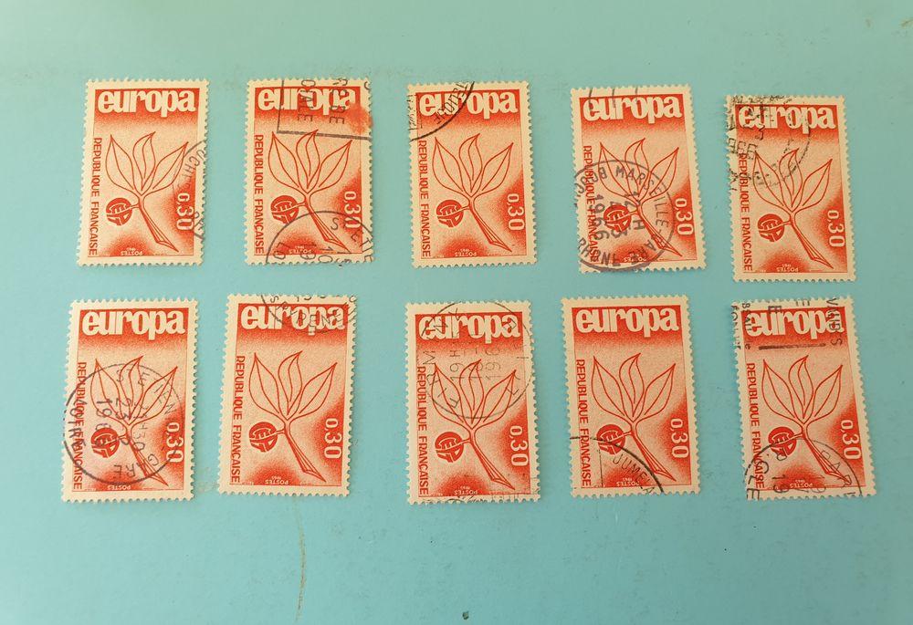 Timbre france europa 1965 oblitérés - lot 0.60 euro