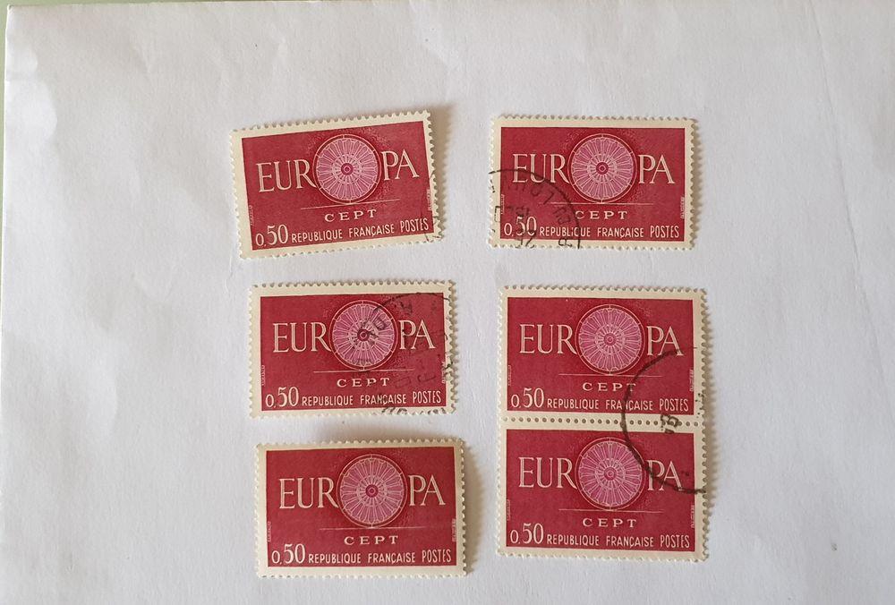 Timbre france europa 0.50 f 1960- lot 0.66 euro ou 0.11 euro 0 Marseille 9 (13)