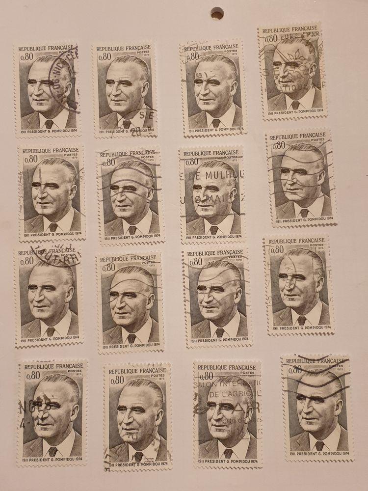 Timbre france Georges Pompidou - Président 1975- lot 1.20 eu 0 Marseille 9 (13)