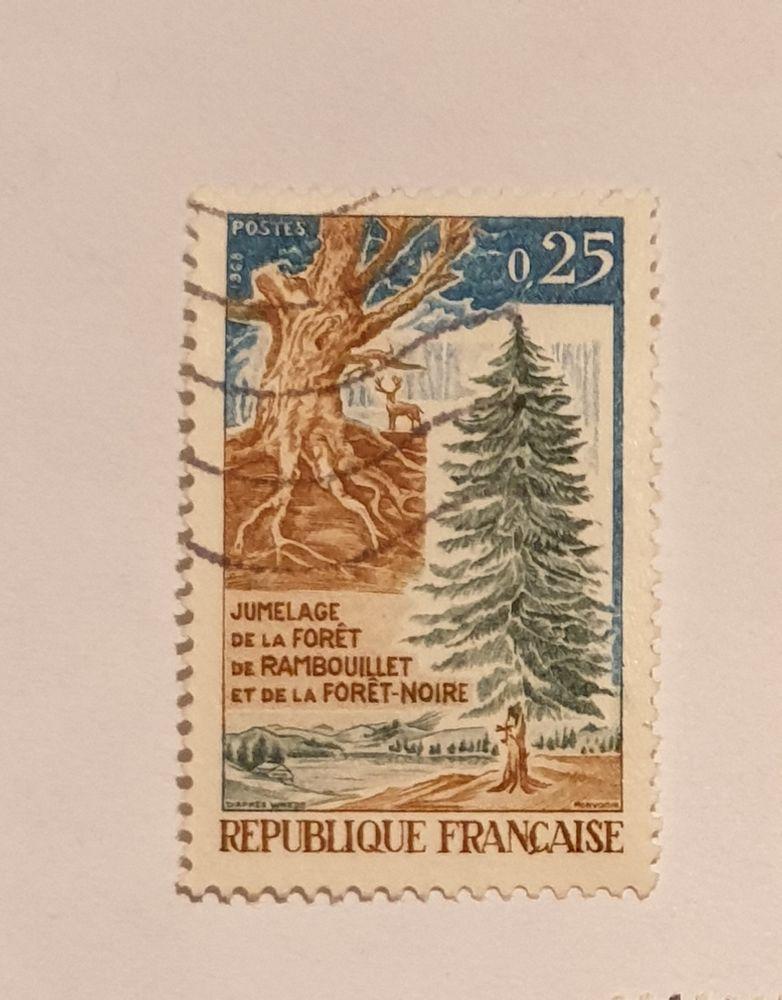 Timbre France Jumelage de la forêt 1968 - 0.05 euro 0 Marseille 9 (13)