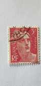 Timbre France Marianne de Gandon 3 F (1945) oblitéré 0.15 eu 0 Marseille 9 (13)