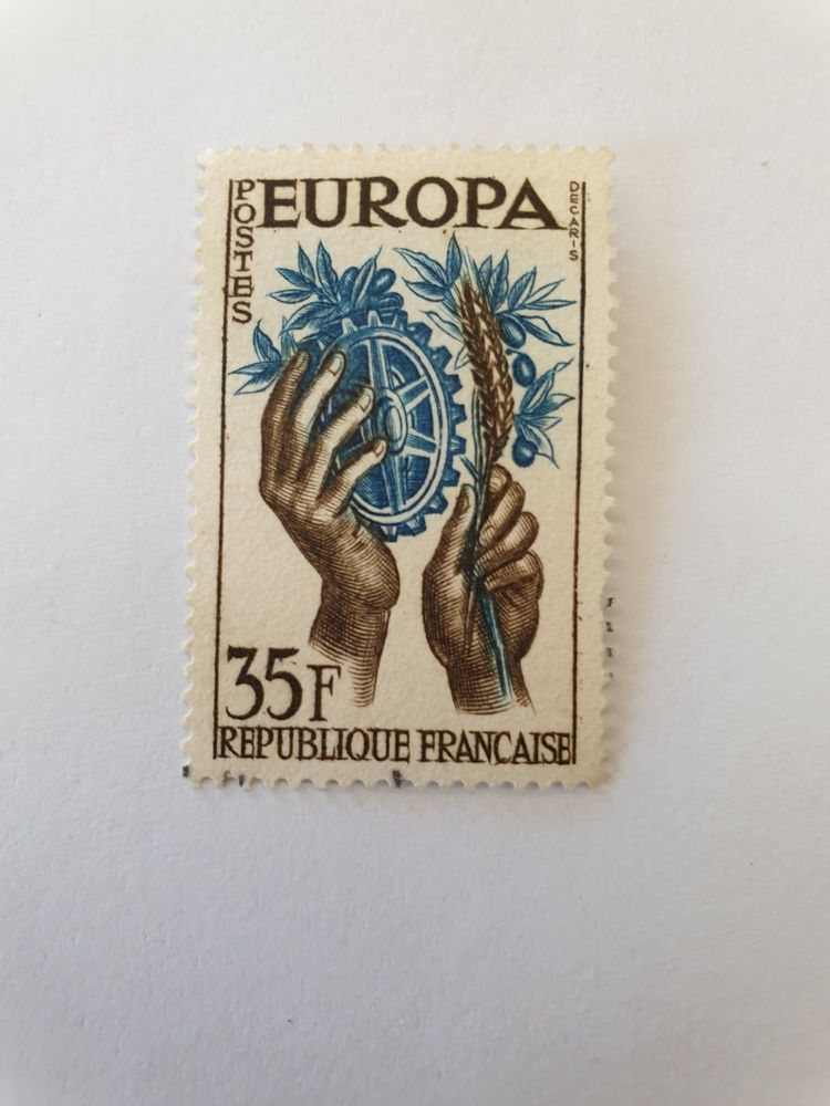 Timbre France Oblitéré 1957 Europa 35 F - 0.25 euro