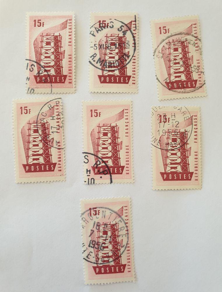 Timbre France  Oblitéré 1956 Europa   15 F  lot 0.15 euro 0 Marseille 9 (13)
