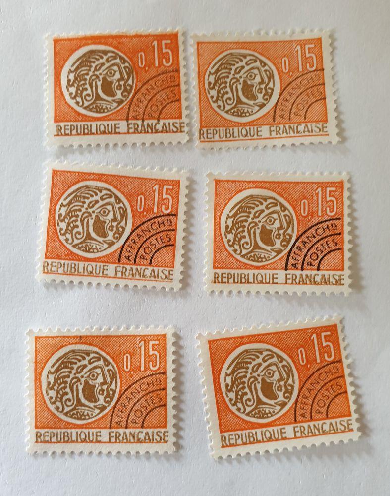 Timbre France pré oblitéré 1966 -monnaie gauloise -lot 0.30 0 Marseille 9 (13)