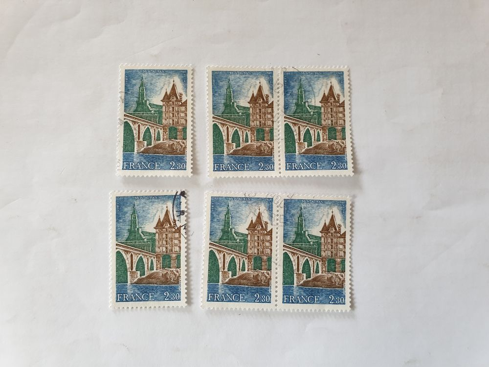 Timbre France Oblitéré 1980 Montauban- lot 0.54 euro