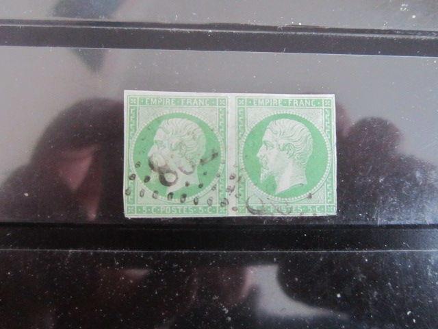 timbre france oblitéré 12 la paire 44 Reims (51)