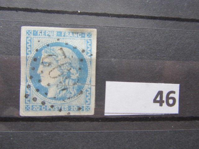 timbre france oblitéré 46 15 Reims (51)