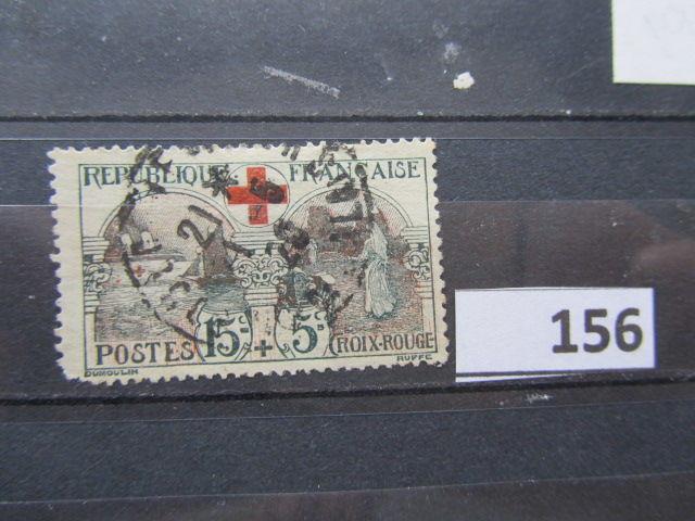 timbre france oblitéré 156