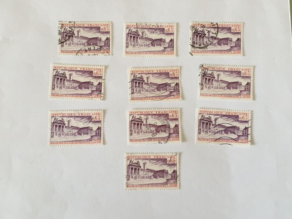 Timbre france Palais des ducs de Bourgogne à Dijon 1973- lot 0 Marseille 9 (13)