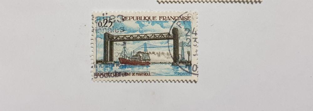 Timbre France Pont de Martrou à Rochefort 1968- 0.05 euro 0 Marseille 9 (13)