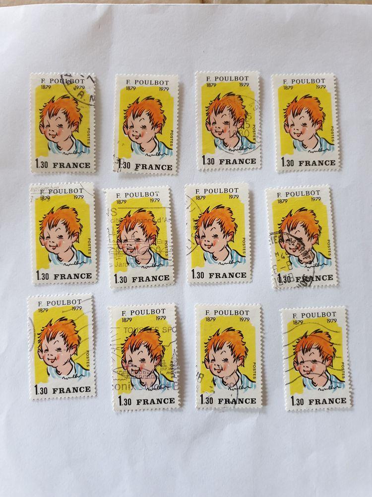 Timbre france poulbot (1979) oblitérés - lot 1.20 euro