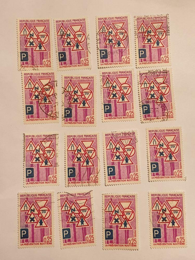 Timbre France Prévention routière (1968)   lot 0.80 euro 0 Marseille 9 (13)